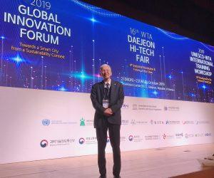 本會林建元理事長受邀參加韓國2019 Global Innovation Forum,分享成功經驗